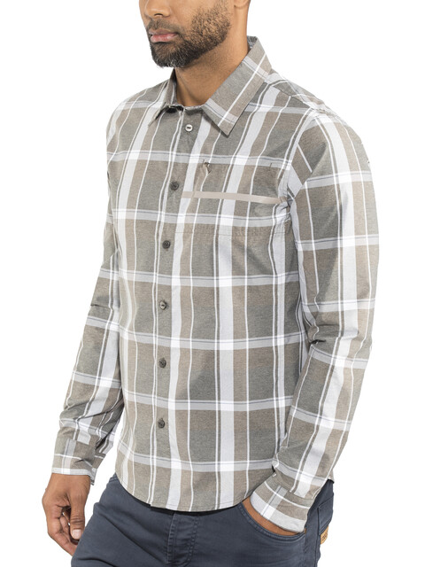 Shimano Transit Check Longsleeve Button Up Shirt Men morel